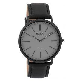 Oozoo C9319 Armbanduhr Vintage Schwarz/Schwarz/Grau 40 mm