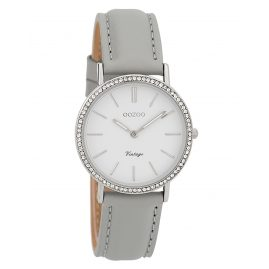 Oozoo C9321 Ladies' Wristwatch Vintage Silver-Coloured/Grey/White 32 mm