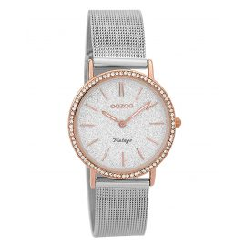 Oozoo C9327 Ladies' Watch Vintage Rose/Silver-Coloured 32 mm