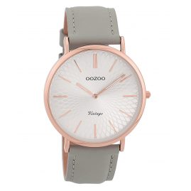 Oozoo C9334 Ladies' Watch Vintage Rose/Grey/Silver-Coloured 40 mm