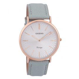 Oozoo C9337 Damen-Armbanduhr Vintage Rosé/Hellblau/Silberfarben 40 mm