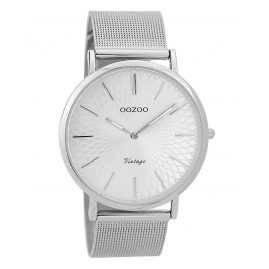 Oozoo C9340 Ladies' Wristwatch Vintage Silver-Coloured 40 mm