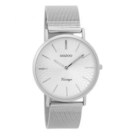 Oozoo C9341 Ladies' Watch Vintage Silver-Coloured 36 mm