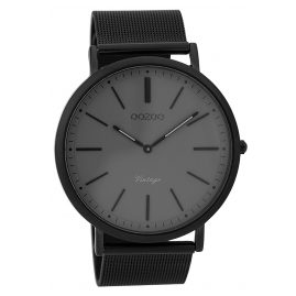 Oozoo C9351 Men's Watch Vintage Black/Grey 44 mm