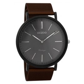 Oozoo C9353 Herren-Armbanduhr Vintage Schwarz/Braun/Grau 44 mm