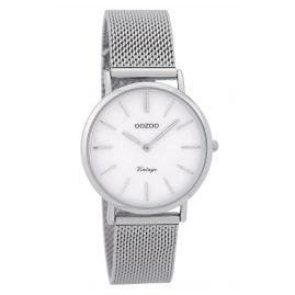 Oozoo C9361 Damen-Armbanduhr Vintage Silberfarben/Perlmuttweiß 32 mm