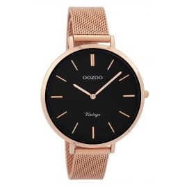 Oozoo C9374 Ladies Watch Vintage Rose Gold/Black 40 mm