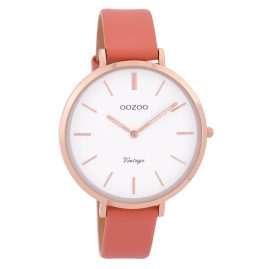 Oozoo C9388 Ladies Wrist Watch Vintage Rose/Peach 40 mm