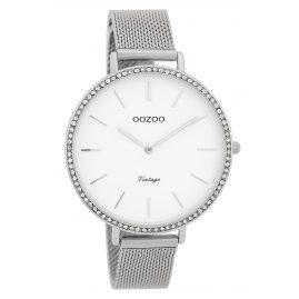 Oozoo C9395 Damenuhr Vintage Weiß 40 mm mit Milanaisearmband