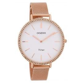 Oozoo C9397 Ladies' Watch Vintage White 40 mm with Mesh Bracelet
