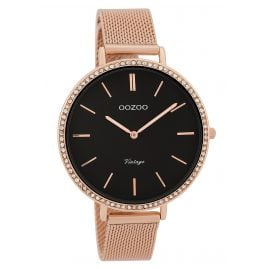 Oozoo C9399 Ladies' Watch Vintage Black 40 mm with Mesh Bracelet
