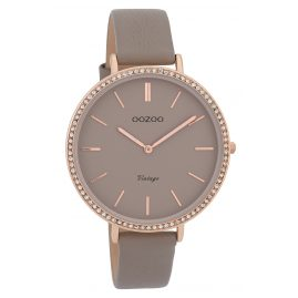 Oozoo C9801 Ladies' Watch Vintage Taupe 40 mm with Leather Strap