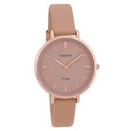 Oozoo C9811 Ladies' Watch Vintage Pink-Grey 34 mm with Leather Strap