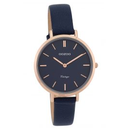 Oozoo C9817 Ladies' Watch Vintage Dark Blue 34 mm with Leather Strap
