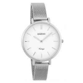 Oozoo C9820 Ladies' Watch Vintage White 34 mm with Mesh Bracelet