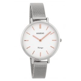 Oozoo C9821 Ladies' Watch Vintage White 34 mm with Mesh Bracelet