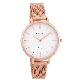 Oozoo C9822 Ladies' Watch Vintage White 34 mm with Mesh Bracelet