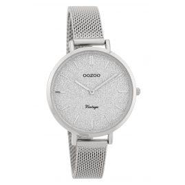 Oozoo C9825 Ladies' Watch Vintage Silver/Glitter 34 mm with Mesh Bracelet