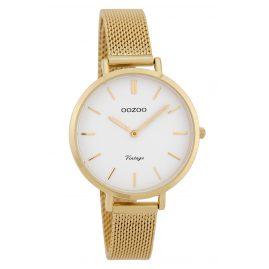 Oozoo C9827 Ladies' Watch Vintage White 34 mm with Mesh Bracelet