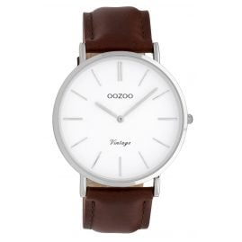 Oozoo C9830 Ladies' Watch Vintage White/Dark Brown 40 mm