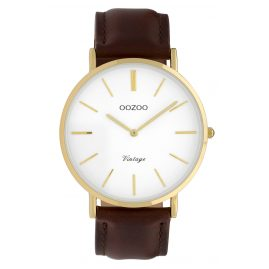 Oozoo C9831 Ladies' Watch Vintage White/Dark Brown 40 mm