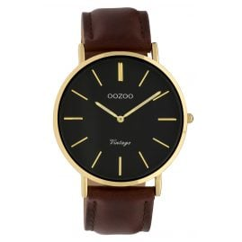 Oozoo C9833 Ladies' Watch Vintage Black/Dark Brown 40 mm