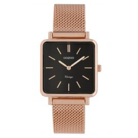 Oozoo C9848 Ladies' Watch Vintage Black/Mesh Band 28 mm