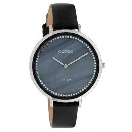 Oozoo C9853 Damenuhr Vintage Perlmutt Blau/Schwarz 40 mm