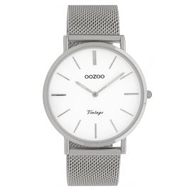 Oozoo C9901 Ladies' Watch Vintage Silver/White 40 mm
