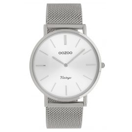 Oozoo C9905 Ladies' Watch Vintage Silver-Tone 40 mm