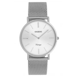 Oozoo C9906 Ladies' Watch Vintage Silver-Tone 36 mm