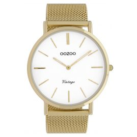 Oozoo C9908 Watch Vintage Gold-Tone/White 44 mm