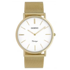 Oozoo C9909 Ladies' Watch Vintage Gold-Tone/White 40 mm