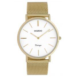Oozoo C9909 Damenuhr Vintage Goldfarben/Weiß 40 mm