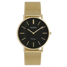 Oozoo C9914 Ladies' Watch Vintage Gold-Tone/Black 36 mm
