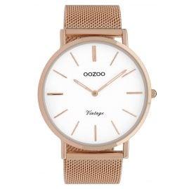 Oozoo C9916 Armbanduhr Vintage Roségoldfarben/Weiß 44 mm
