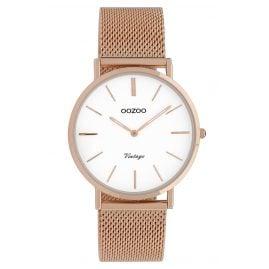 Oozoo C9918 Ladies' Wristwatch Vintage Rose Gold-Tone/White 36 mm