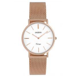 Oozoo C9919 Ladies' Wristwatch Vintage Rose Gold-Tone/White 32 mm