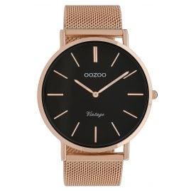Oozoo C9924 Watch Vintage Rose Gold-Tone/Black 44 mm