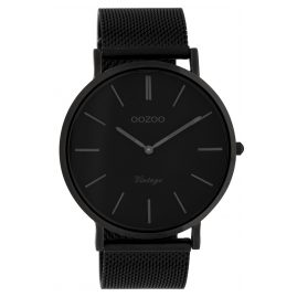 Oozoo C9932 Armbanduhr Vintage Schwarz 44 mm
