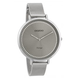 Oozoo C9855 Damenuhr Vintage Silber/Grau 40 mm