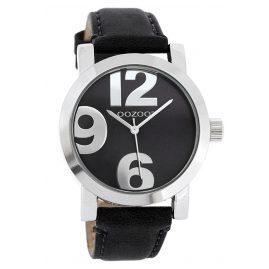 Oozoo JR194 Damenuhr mit Lederband Schwarz 40 mm