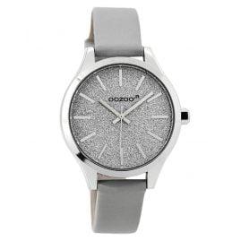 Oozoo JR295 Armbanduhr für Mädchen und Damen Grau 35 mm