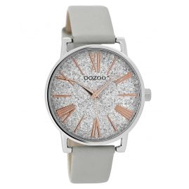 Oozoo JR300 Ladies' Watch Leather Strap Grey 38 mm