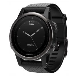 Garmin 010-01685-11 fenix 5S Saphir GPS Multisport Smartwatch Schwarz