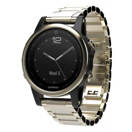 Garmin 010-01685-15 fenix 5S Saphir GPS Multisport Smartwatch Edelstahl