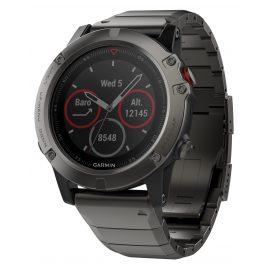 Garmin 010-01733-03 fenix 5X Saphir GPS Multisport Smartwatch Edelstahl