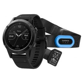 Garmin 010-01688-32 fenix 5 Saphir GPS Smart Watch Performer Bundle