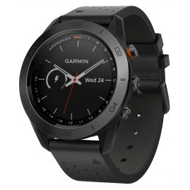 Garmin 010-01702-02 Approach S60 Premium GPS Golf Watch Leather Strap Black