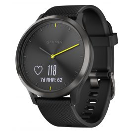 Garmin 010-01850-01 vivomove HR Sport Fitness Tracker Smartwatch L Black